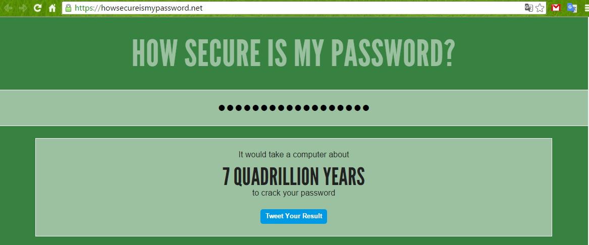 A to máme nezlomitelnost v řádu 7 kvadriliónu let - tedy pokud jste právě nesvěřili své skutečné heslo crackerovi