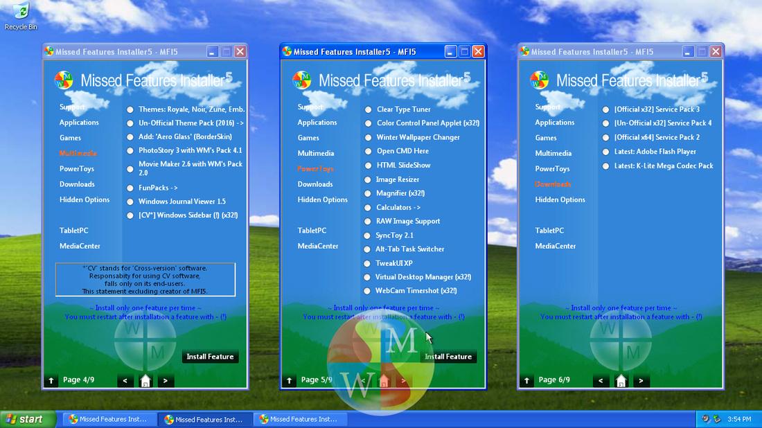 ...najdeme mezi nimi aplikace, rozšíření podpor i možnosti úprav výchozích nastavení Windows XP