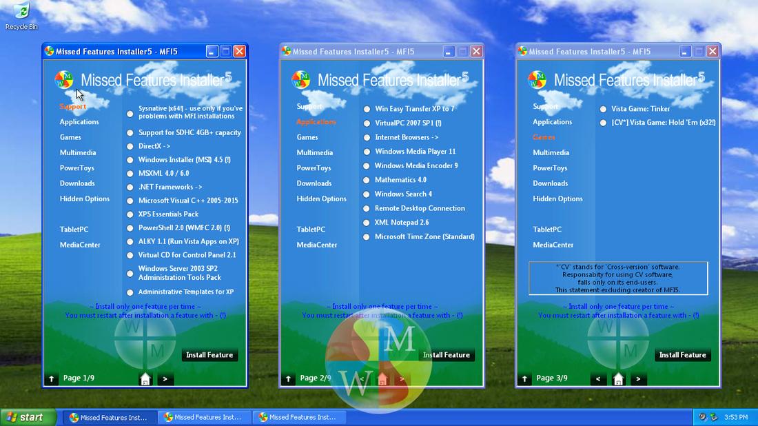 Uživatelé Windows XP dostanou fičury, které by jinak museli postrádat