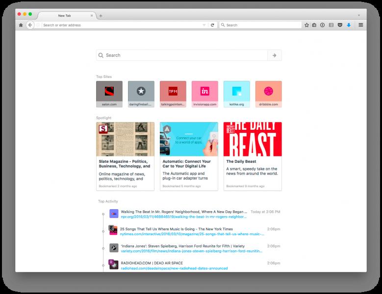 Activity Stream nabídne obsah dle brouzdání uživatele
