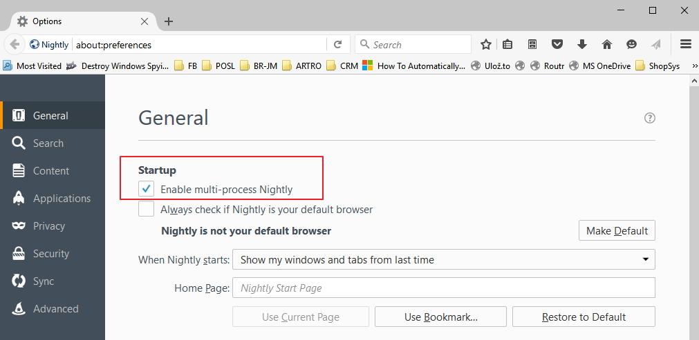 Multiprocesovou architekturu Electrolysis si můžete vyzkoušet již v nočním sestavení Firefox Nightly