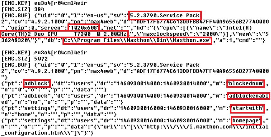 Verze operačního systému včetně aplikovaného Service Packu a stav používání AdBlocku - to vše Maxthon nabonzuje