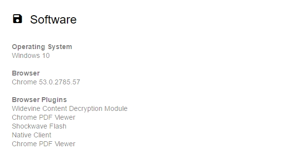 Zjištění použitého softwaru je banální záležitostí