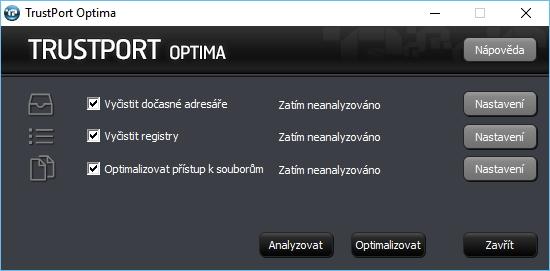 TrustPort Optima: jednoduchý čisticí nástroj