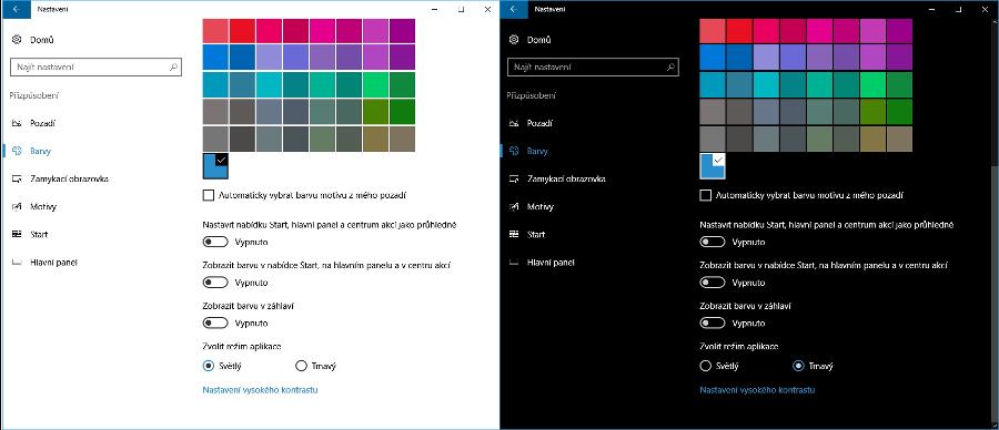 Nastavení temného tématu systémových aplikací Windows 10 je po výročním povýšení snadné a rychlé