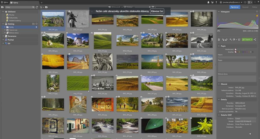 Zoner Photo Studio X: nově je možno fotografie řadit i podle lokality pořízení