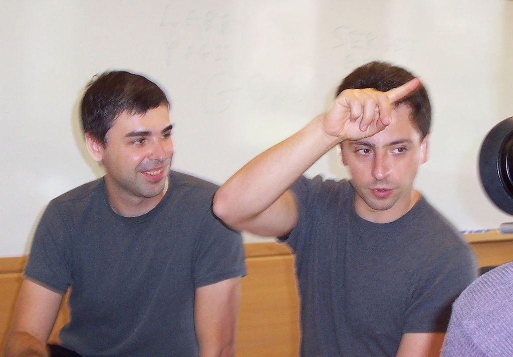 Larry Page a Sergej Brin v roce 2003 (Zdroj: Wikipedia.org)