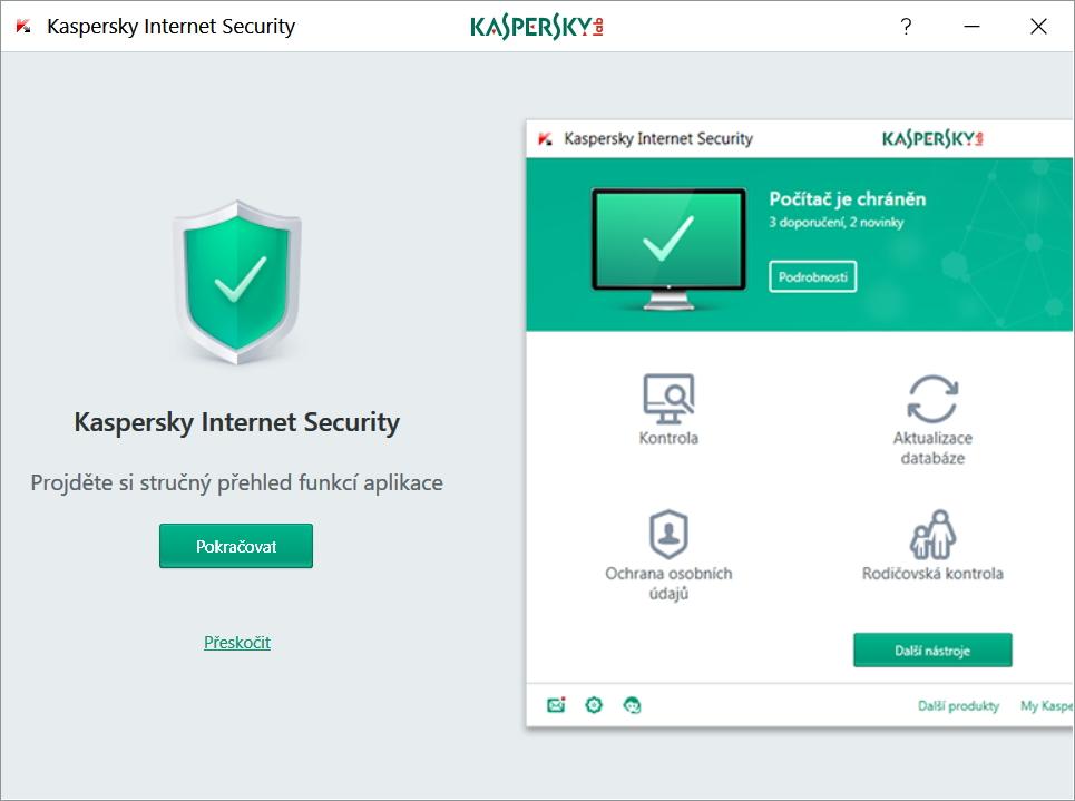 Představení funkcí aplikace Kaspersky Internet Security