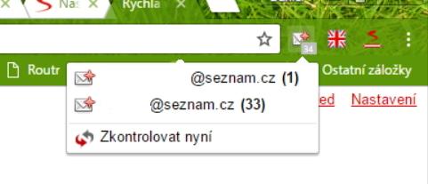 Seznam Lištička - Email umožňuje rychlou kontrolu všech přidaných emailových schránek