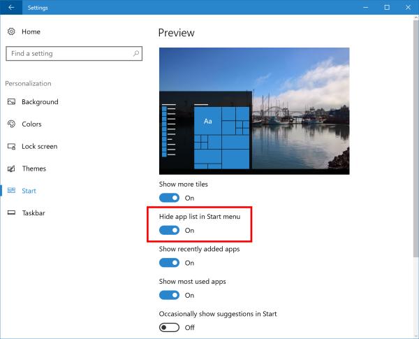 Microsoft experimentuje se skrýváním seznamu všech aplikací