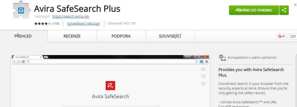 Avira SafeSearch je jen další doplněk internetového prohlížeče