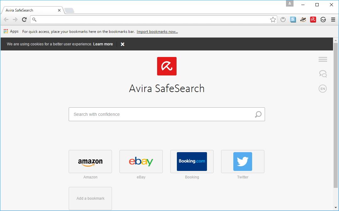 Avira Scout Browser rovnou přivítá vyhledávání Avira SafeSearch - pročpak je následně nabízeno ještě zvlášť?