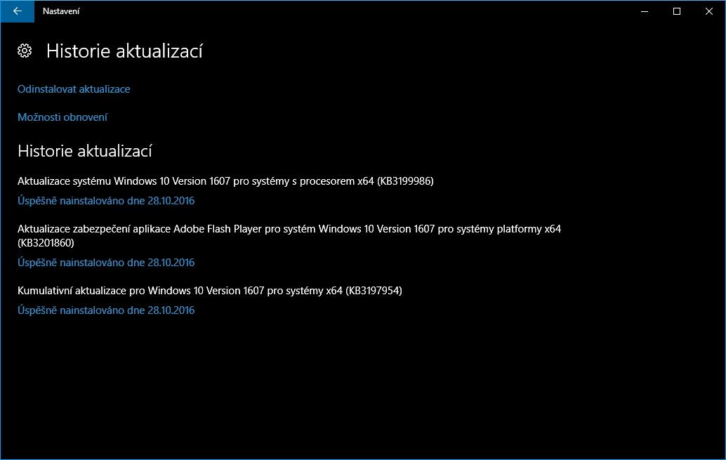 Sešly se hned 3 aktualizace: záplata, servisní aktualizace a kumulativní update