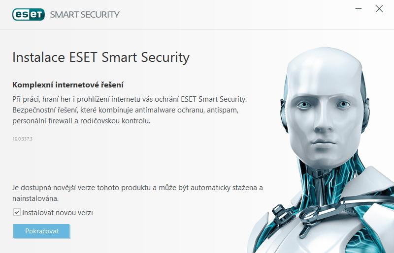 ESET Smart Security automaticky nabídne instalaci své nejnovější verze