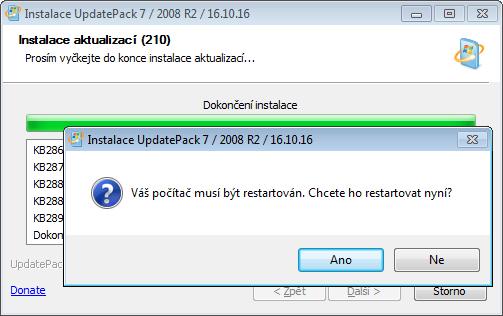 A pro plnou aktualizaci systému už staèí jen restartovat