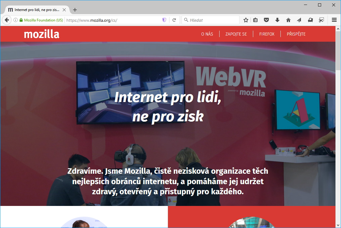 Mozilla Firefox opìt lidštìjší, teda vlastnì rychlejší :)