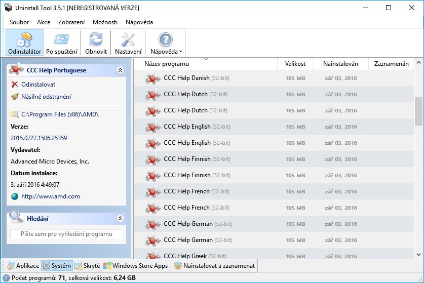Uninstall Tool: Systém skrývá mnoha zajímavých položek