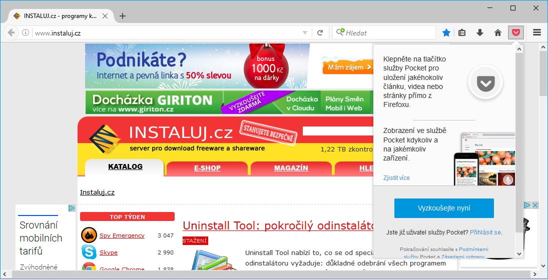 Pocket má pomoci při rychlém procházení webu a ukládání textů na později - mnoho lidí ji však nevyužívá