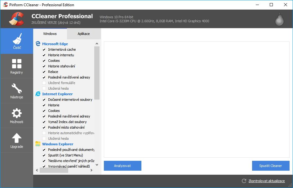 CCleaner Professional: stále stejně jednoduchý, přehledný a v češtině