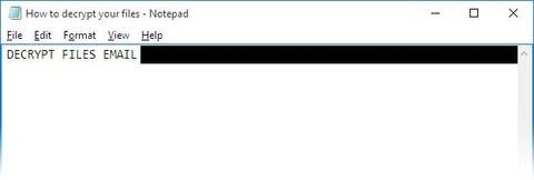 Textový soubor s kontaktními emaily útočníků