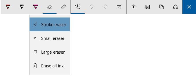 Windows Ink nyní přímo zobrazuje, kterou barvu Pero, Tužka a Zvýrazňovač používají