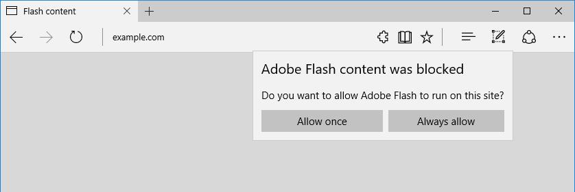 I Microsoft Edge se přidává k prohlížečům, které zcela blokují Adobe Flash a zpřístupňují jej jen na požadavek uživatele