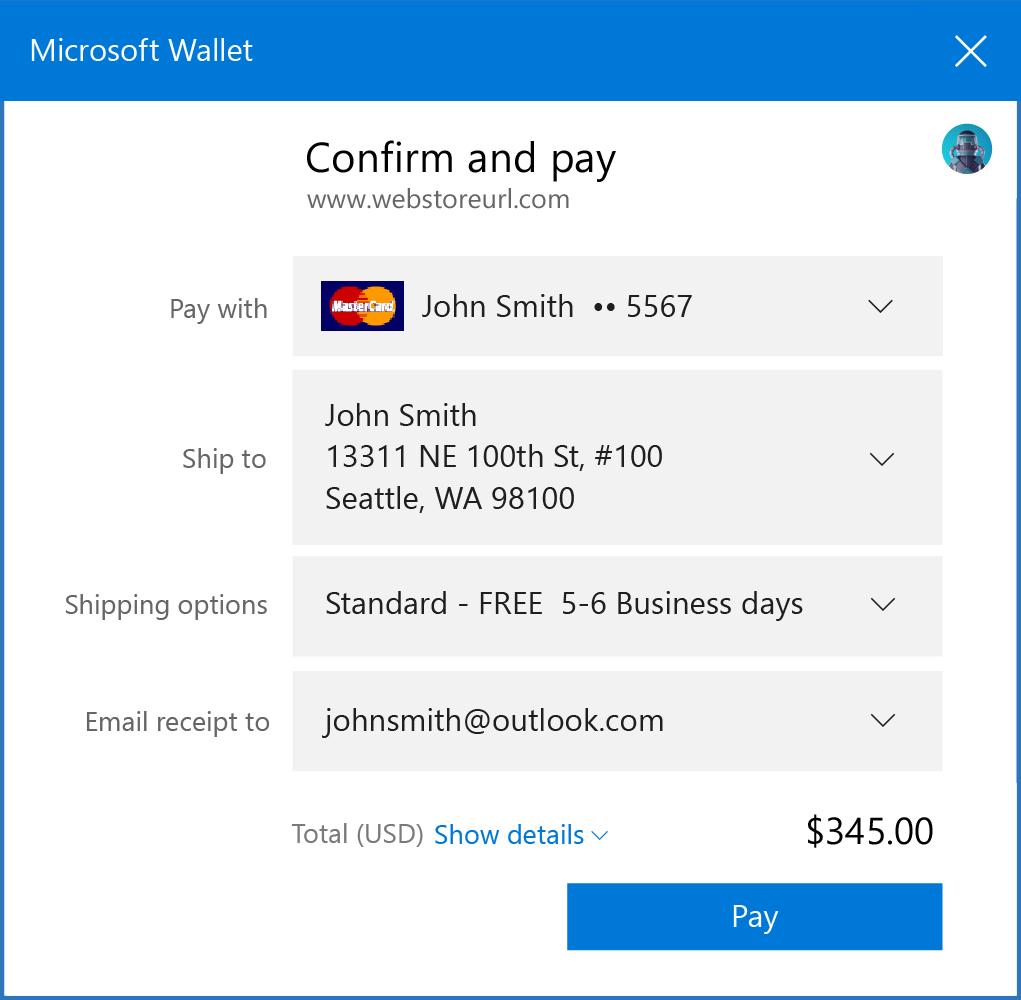 Microsoft Edge přímo zavolá Microsoft Peněženku