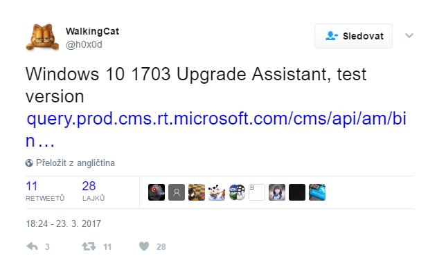 Uživatelka WalkingCat jako první dala k dobru objev Pomocníka s aktualizací, jehož prostřednictvím lze Windows 10 povýšit již dnes