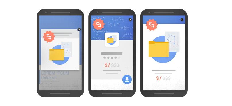Několik ukázek, jak reklama podle Googlu vypadat nemá (Zdroj: Google.com)
