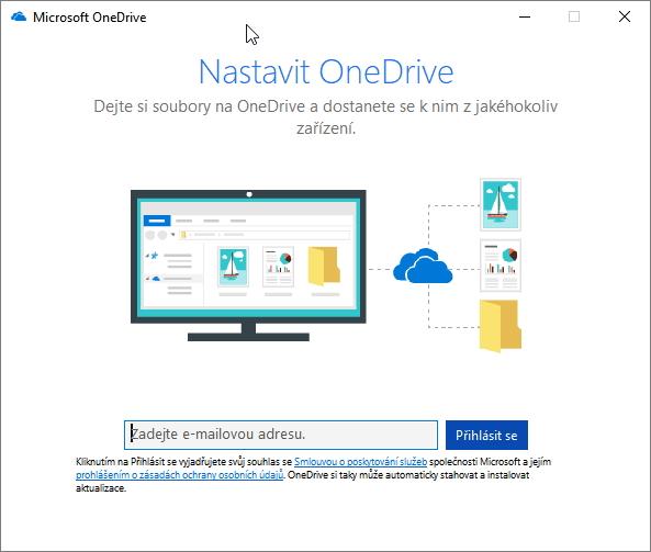Nabídka Nastavit OneDrive na vás vyskočí téměř pokaždé, když něco ukládáte či načítáte
