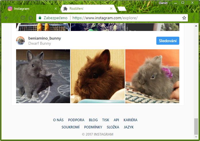 V klasické webové aplikaci na  desktopu chybí spodní menu zahrnující i upload fotek...