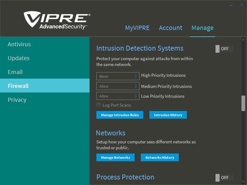 Firewall umožňuje jak Stealth Mode, tak ochranu již při bootování