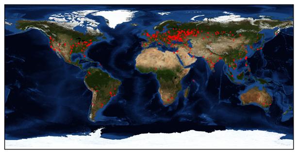 Řádění WannaCry ve světě (Zdroj: CheckPoint.com)