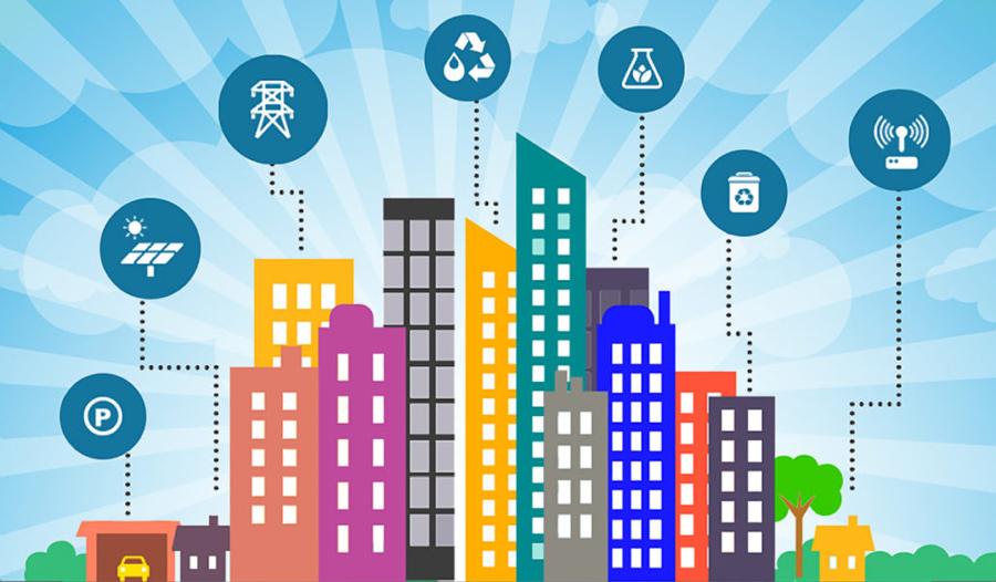 Chytré město dokáže zužitkovat jak nevyužité plochy k výrobě elektřiny, tak informace o dopravě k její optimalizaci a zachování kvality ovzduší
