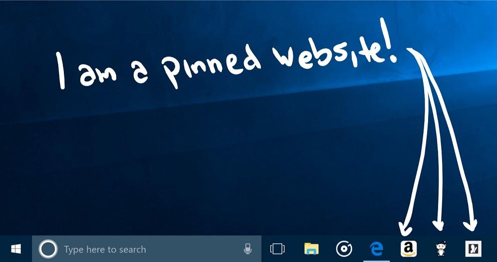 A na hlavní panel si nyní už zase můžete připnout weby Microsoft Edge