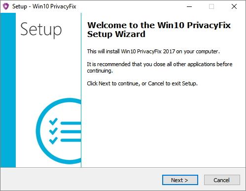 Instalace Win10PrivacyFix je dílem několika okamžiků...