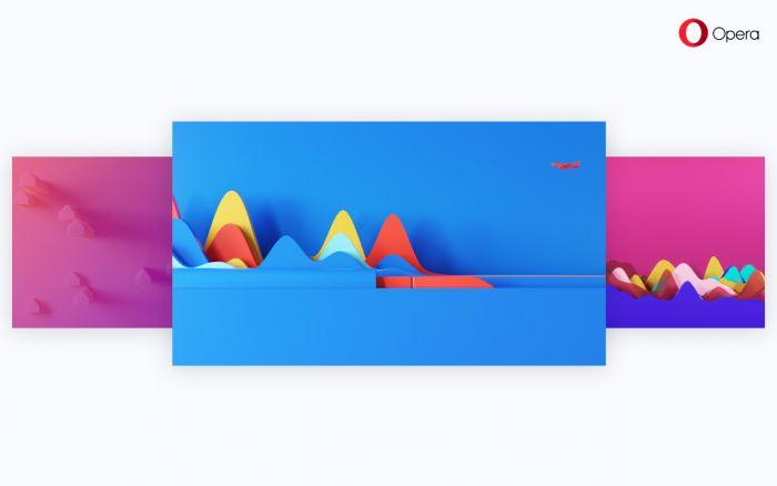 Tapety minimalistické i animované pro Operu připravili Umberto Daino a  Feridun Akgüngör