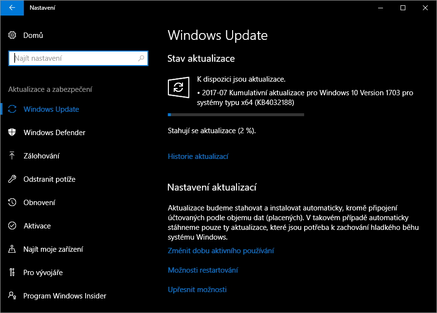 KB4032188 opravuje široké spektrum funkčních problémů Windows 10 Creators Update