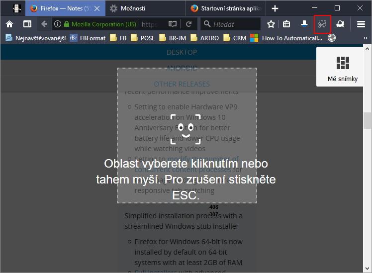 Firefox Screenshots představují velice povedenou konkurenci separátních snímačů obrazovky