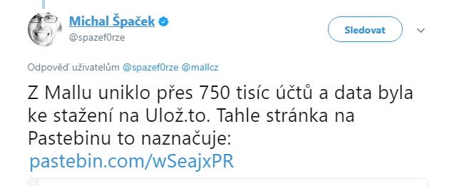 Jeden z prvních, kdo na možný útok upozornil, byl Michal Špaček