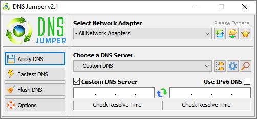 DNS Jumper: sice anglické, nicméně velmi jednoduché prostředí slibuje stejně jednoduché ovládání