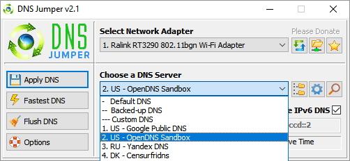 DNS servery na IPv6 bohužel musíme testovat jeden po druhém - jejich hromadný test chybí