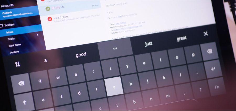 Eye Control umožní psát na klávesnici i pohybovat kurzorem pouze pomocí očí