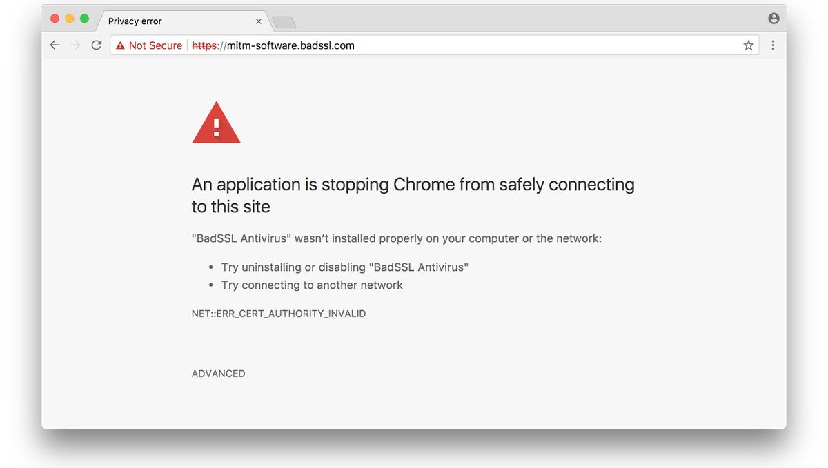 Nová verze varování při detekci možného MITM útoku (Zdroj: BleepingComputer.com)