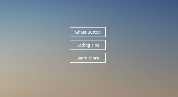 Tlačítka typu ghost button v názorném příkladu (Zdroj: Superdevresources.com)