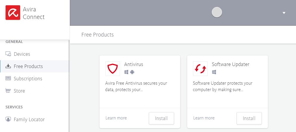 Ani cloudový účet Avira Connect nevybočuje z obecného standardu a neustálé snahy prodat