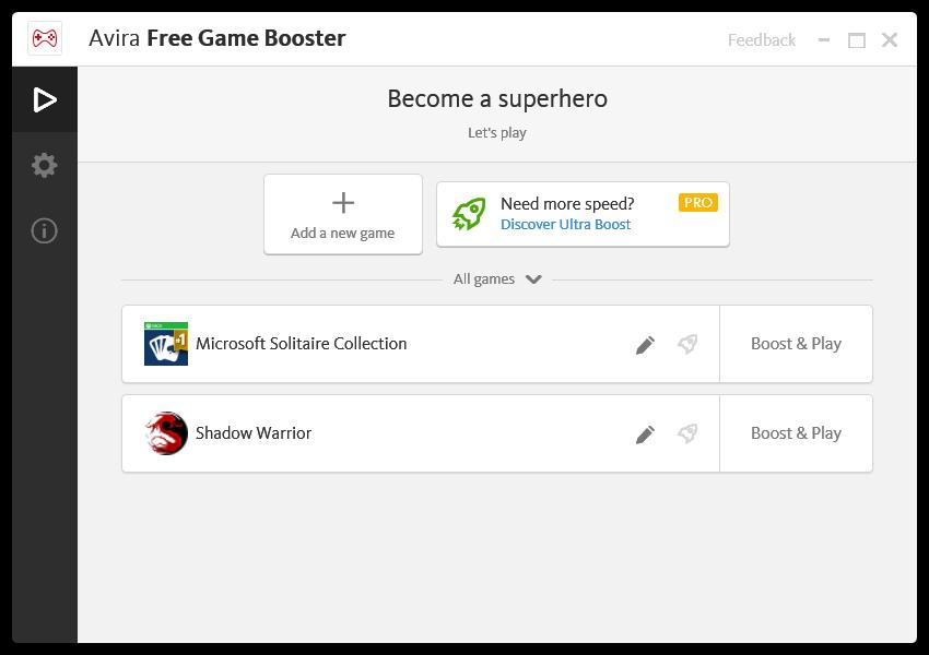 Game Booster je samostatnou aplikací spravující herní režim