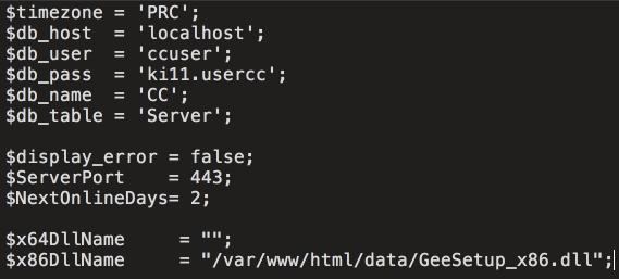 Konfigurační soubor init.php má jednoznačně nastavené časové pásmo PRC (Zdroj: Cisco.com)
