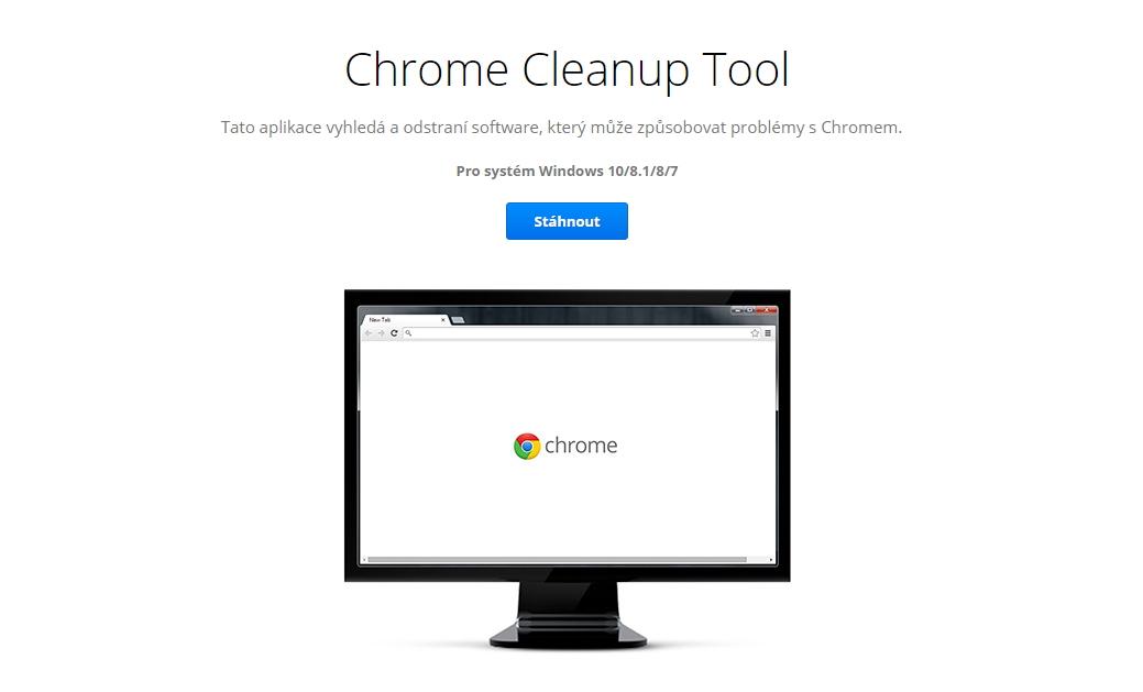 Chrome Cleanup Tool bude nadále integrován přímo v prohlížeči Chrome