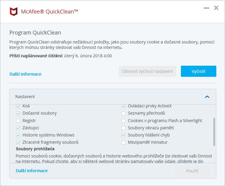 QuickClean alias čistič